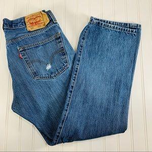Levi's 501 Jeans Sz 34 x 30 Distressed